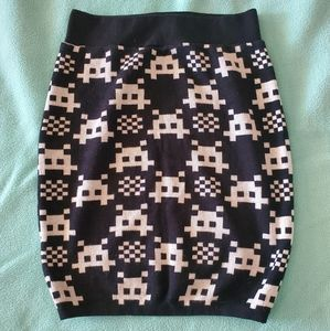 Space Invaders Skirt